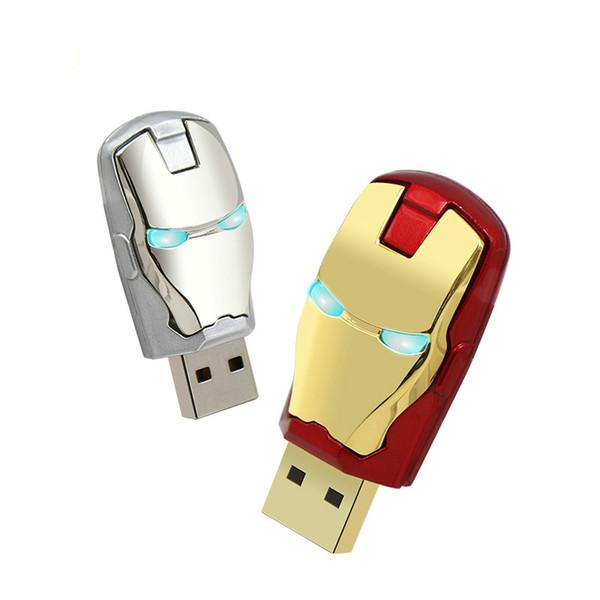 Large capacity Iron man pendrive 4gb 8gb Metal waterproof pen drive 16gb 32gb 64gb usb stick usb flash drive U disk gift cle usb