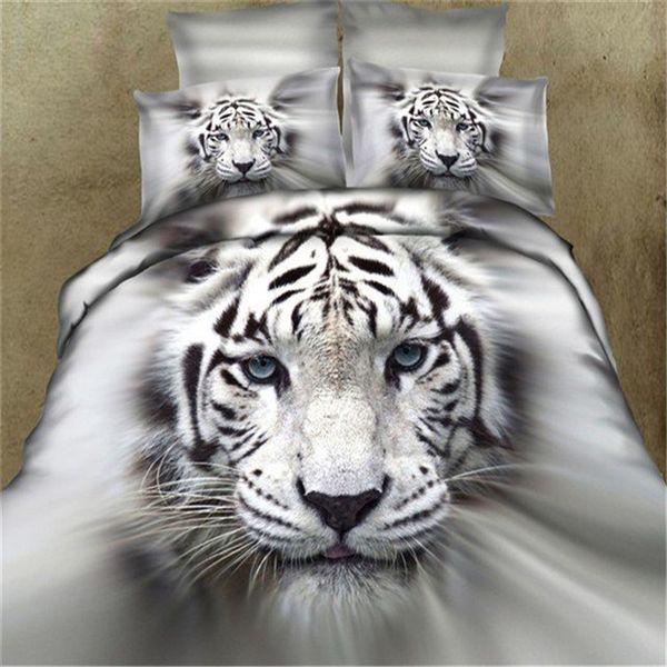 fashion casual 3D tiger Quilt cover bedding set bedding sets duvet cover sets home texiles four-piece sets