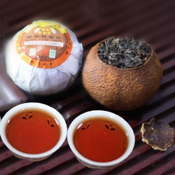Promotion 250g Yunnan Ripe Puer Tea Old Orange Puer Cooked Tea Tangerine Peel Packaging Organic Natural Black Puerh