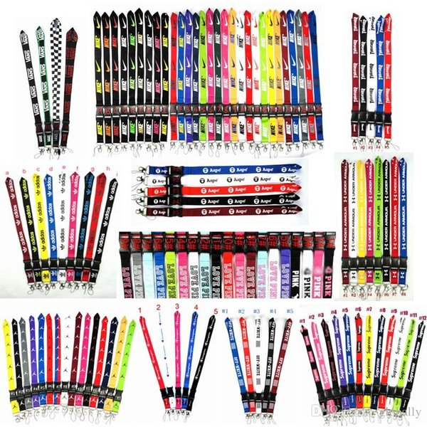 top popular 2020 Wholesale New more than 100 Styles Lanyard Black Blue White 20 Colors Available Strap For All Cell Phones Hot Sale String Neck Strap 2020