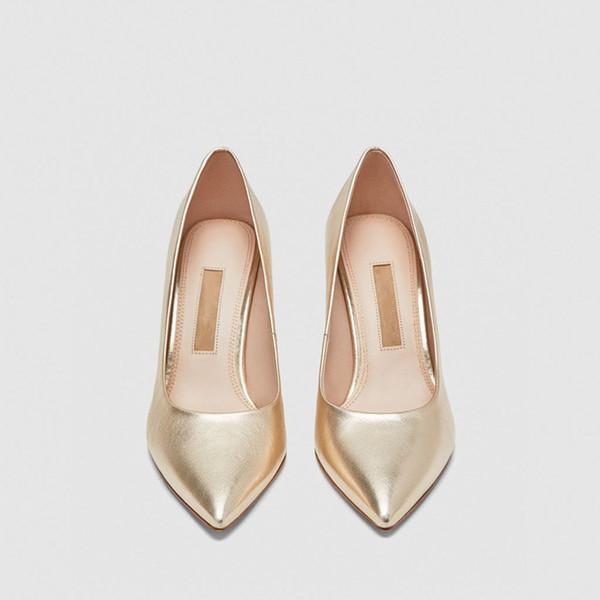 Yüksek topuklu ayakkabılar MS siyah Sivri Koyun Hakiki Deri Tek ayakkabı Düz renk Ince Iş ayakkabıları Rahat Nefes yeni stil