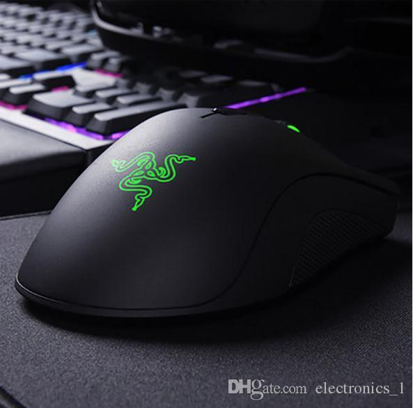 Factory direct sell razer deathadder chroma symphony 1600dpi USB wired optical mouse gaming mouse computer game mouse with retail package