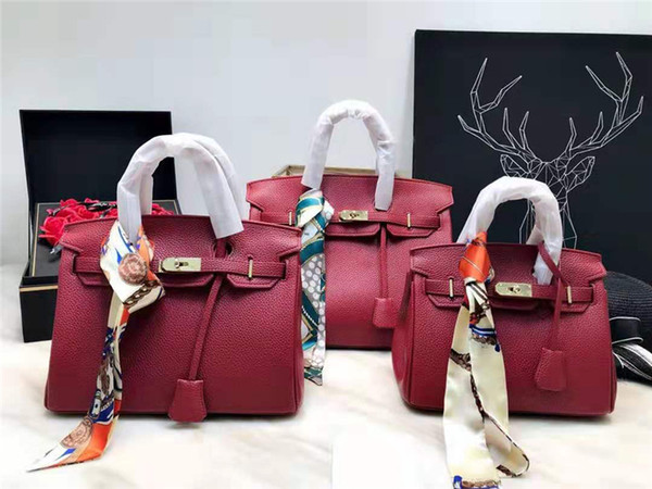 2019 Women designer handbags luxury bags tote clutch shoulder bags good quality leather lichee pattern crossbody messenger bags