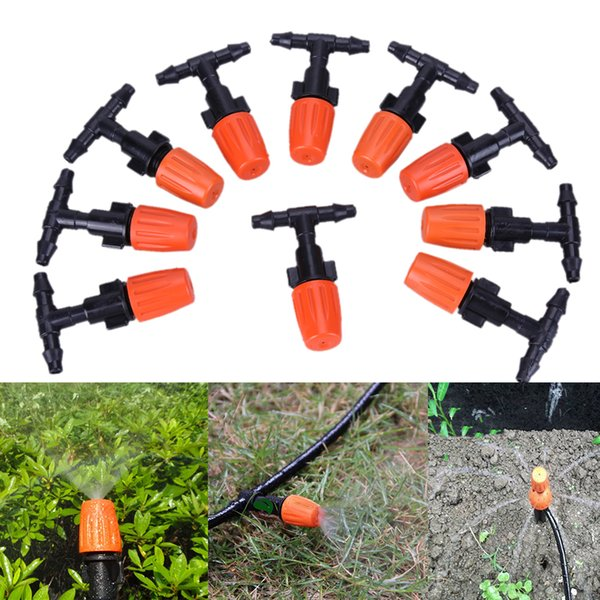 10M DIY Micro Drip Irrigation System Garden sprinkle Self Watering Garden Hose Kits with Connector Adjustable Dripper