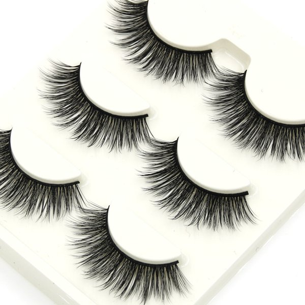 D-1 Cross Natural Long 3d False Eyelashes Handmade Soft Cotton Thread Thick Fake Eyelashes Smoke Banquet Makeup Eye Lashes