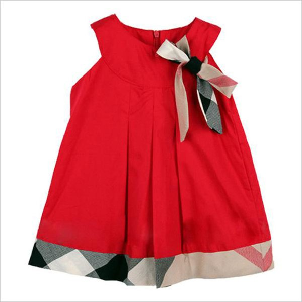 Baby Kids girls Princess Dresses Casual Cotton Plaid Dress Baby Clothing Toddler Girl Kids Clothes Vestidos Costumes B36