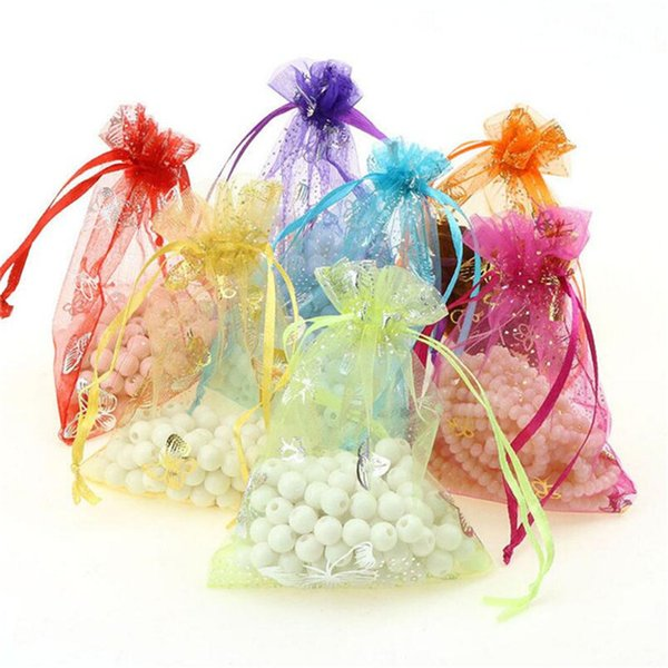 Premium Sheer Organza Bags Drawstring Organza Jewelry Candy Pouches Wedding Party Christmas Favor Gift Tulle Bags
