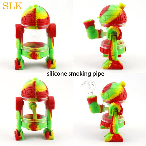Best cheap price folded portable smoking water pipes dabberoil rig glass bong hookah hose glass water pipesilicone bong