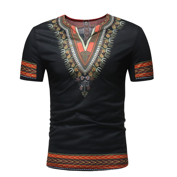 vestiti africani vestiti da uomo africano roupa africana dashiki uomo africa v collar t-shirt per abiti tradizionali nigeriani
