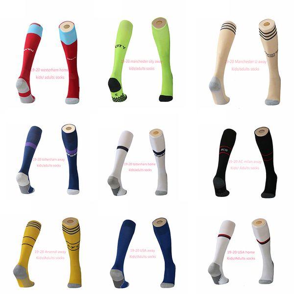 2019 2020 american soccer socks and cabj napoli sport stockings west acm vcf city uinited 19 20 spurs away third kids football socks