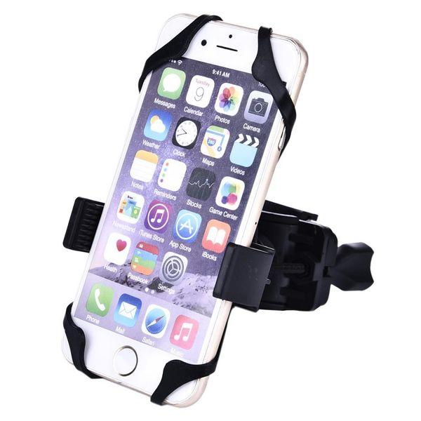 Vendita calda Supporto del supporto del manubrio del motociclo del motociclo della bicicletta Supporto mobile del telefono cellulare Navigatore di GPS con il supporto in silicone # 80210