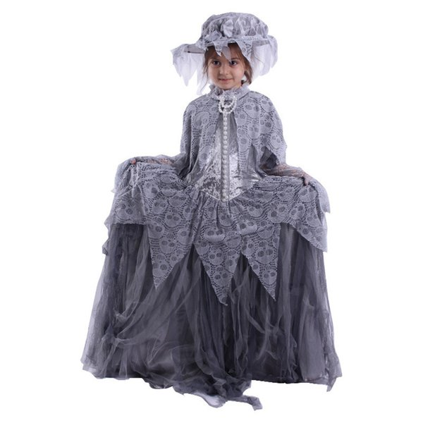 KIDS BRITISH VICTORIAN SERVANT MAID Age 5-10 Girls Child Fancy Dress Costume