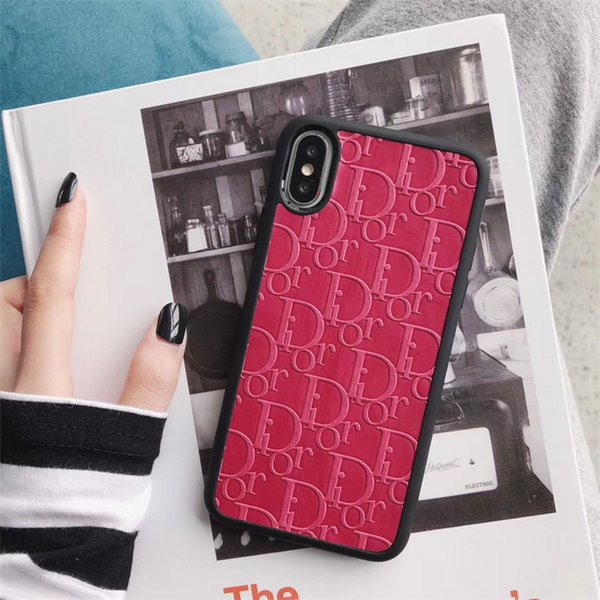 Ein stück luxus telefon case für iphone 6s 7 8 p x xs mode berühmte logo impressum designer telefon rückseitige abdeckung für geschenke