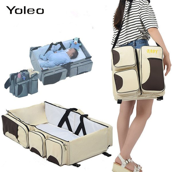 Newborn Baby Portable Travel Foldable Baby Bed Infant Changing Diapers Cot Mummy Pack Bag Newborns Crib Multi-function