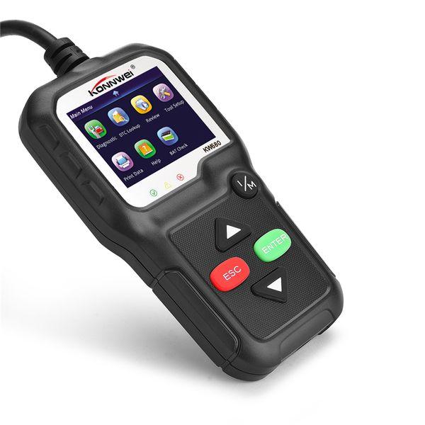 OBD2 Scanner OBD Car Diagnostic Auto Diagnostic-Tool KONNWEI KW680 Read Clear Fault Error Codes Russian Automotive