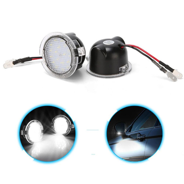 2x Under Side Rear View Mirror Car Accessories Rearview Mirror Lamp LED Signal Bulb Light 12V for Ford Edge Mondeo Explorer F150