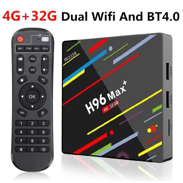 H96 Max und Android 9.0 Smart TV Box Rockchip RK3328 4 GB 32 GB Dual Wifi BT4.0 Smart TV Box H96 Max +