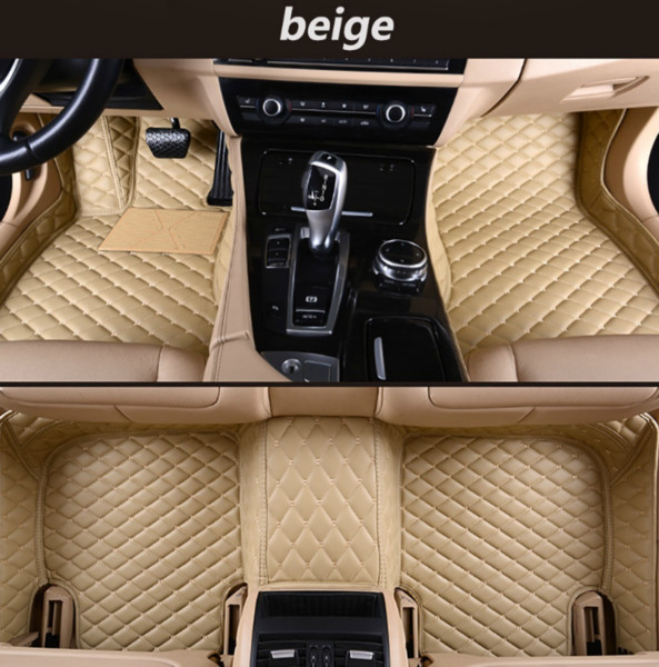 Peugeot 408 2010-2019 Car Non-slip Pad Luxury Surround Waterproof Leather Wear-resistant Car Foot Pad +