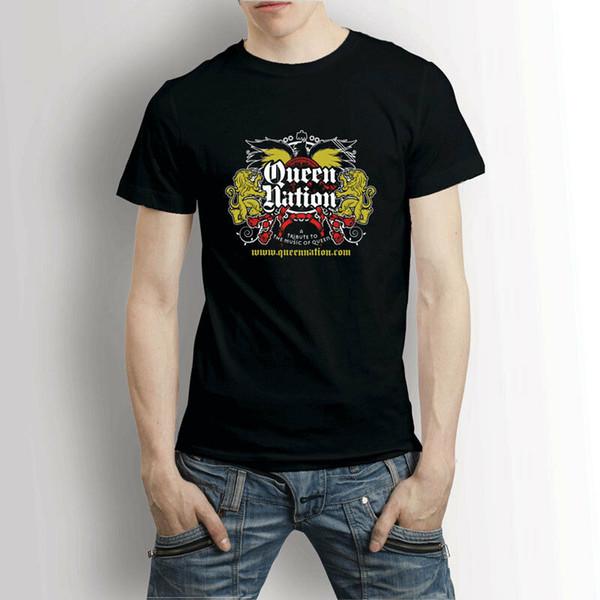Queen Nation Band Logo T-shirt Hombres camiseta Divertido envío gratis Unisex Camiseta Casual top