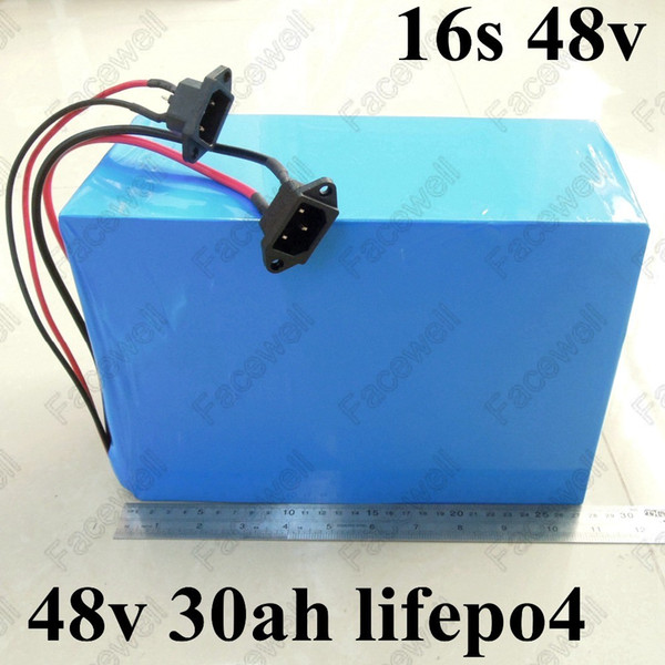 48V 30Ah Lithium LiFePO4 Battery Pack for Electric Bike Scooter with Charger BMS