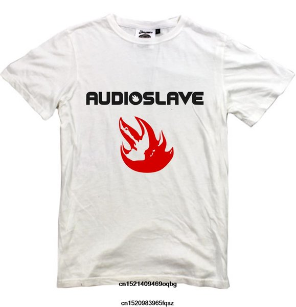 AUDIOSLAVE T-shirt Nueva camiseta blanca Logo S-XXL Alternative Rock Metal Korn Camiseta para hombre Summer O Neck Cotton