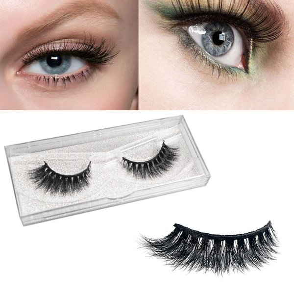 1 Pair Fashion false eyelashes 3D Natural Thick False Fake Eyelashes Eye Lashes Makeup Extension comfortable to wear Z0311