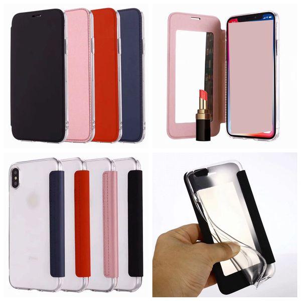 Custodia iPhone 7 Portafoglio PUCover iPhone 8 Specchio in Pelle