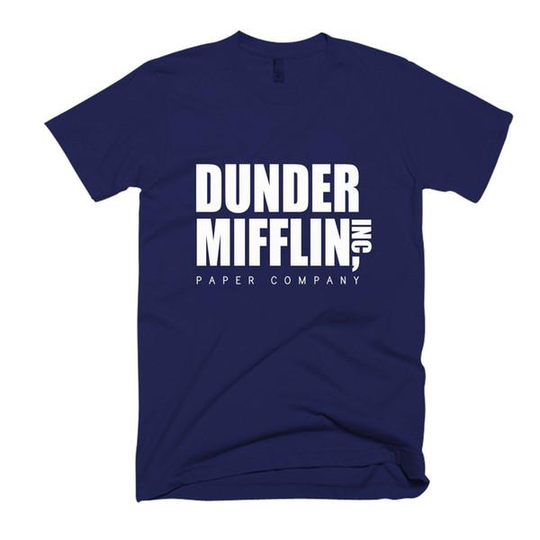 Dunder Mifflin Paper Men's / Women's T Shirt Brand shirts jeans Print Classic Quality High t-shirt Style Round Style tshirt
