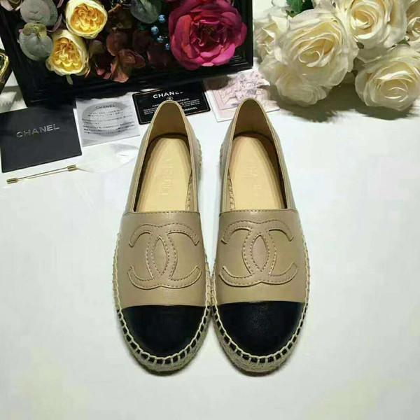 New Fashion Luxury Designer Fisherman Shoes Flache Damenfischerschuhe Bequeme und einfache Hanfseil- und Sehnensohle 35-42