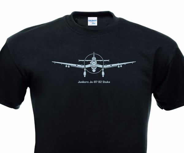 2019 Новый Оптовая Скидка Мужские Лучшие Футболки Junkers Ju 87 Stuka Германия Deutschland Христианская Футболка