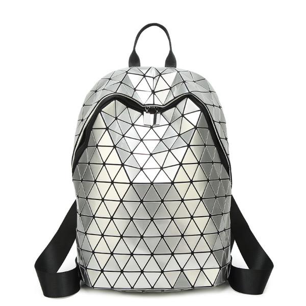 06e9187f7fc9 Япония стиль Алмазная решетка женщины рюкзак bao геометрия рюкзаки для  девочек-подростков школьные сумки дорожная сумка женский рюкзак большой