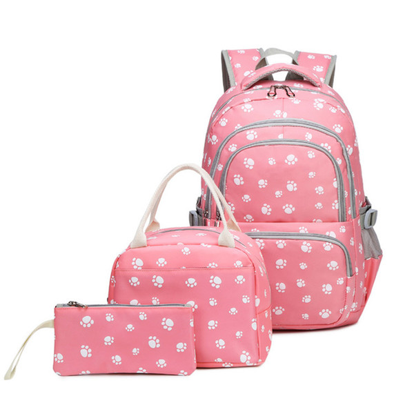3pcs/set Back pack teenager schoolbags Kids Printing backpack set children Schoolbag backpack student bag undertale