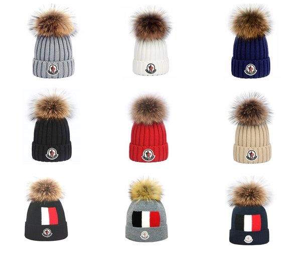New Winter Bobble Hats For Woman Beanies Knitted Solid Hat Girls Autumn Winter Female Beanie Caps Warmer Bonnet Ladies Casual Cap