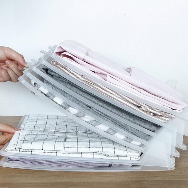 5x Одежда Организатор Футболки Складной Совет Офисный Стол Файловый Шкаф Чемодан Полка Делителей Системы Шкаф Ящик Организа