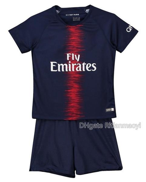 Дети 2018-19 футбол комплекты ретро MBAPPE Джерси Неймар Jr детские футбольные футболки трико де футбол