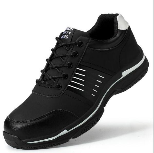 Защитная защитная обувь, рабочая страховка, обувь мужская, антиразбивающая, против прокалывания, стальная головка, переносная ЛА, износостойкая и удобная