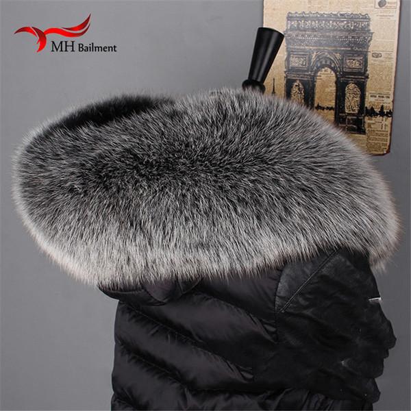Inverno 100% Genuíno Real Natural Fox Gola De Pele Das Mulheres Cachecol Moda Brasão Cachecóis De Luxo Guaxinim Pescoço Cachecol, conjuntos de Luva de chapéu