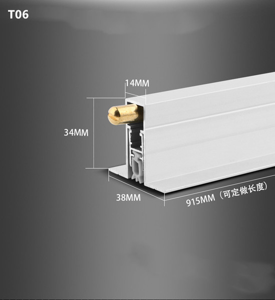 Concealed automatic Soundproof Threshold special aluminum alloy door bottom automatic lifting acoustic Automatic Drop Bottom Seal Silicone W TypeSealing Strips Materialaluminium copper and rubber is_customizedYes to seal gap3-15mm Length915mm (custom made)