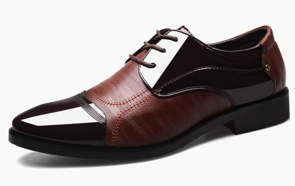 cheap PU men's shoes men Oxfords black Men Dress Shoes Wedding shoes zapato de cuero DM79