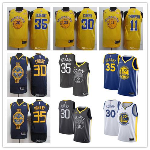 the best attitude 276d6 04422 2019 Golden State 2019 Stephen Curry Kevin Durant Klay Thompson The City  Edition Stitched Cheap Baketball Jerseys From Ptcw01, $16.25 | DHgate.Com