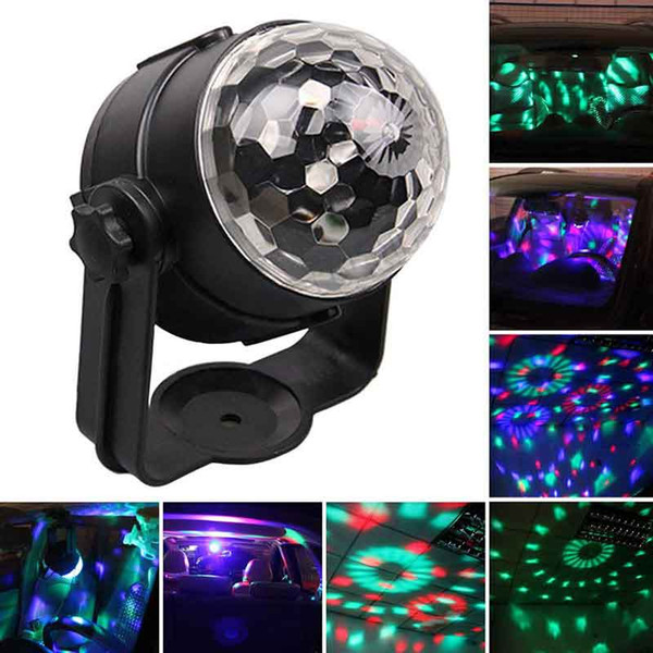 Disco Light USB Party Laser For Car DJ Magic Ball Sound Control Moving Lamp Head vehicle Disco Projector Stage Lights