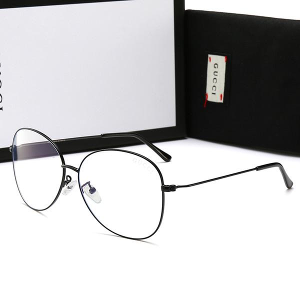Occhiali da uomo di design Occhiali anti-blu chiaro con telaio completo per uomo Donna Occhiali da sole di marca caldo Adumbral Occhiali normali con scatola