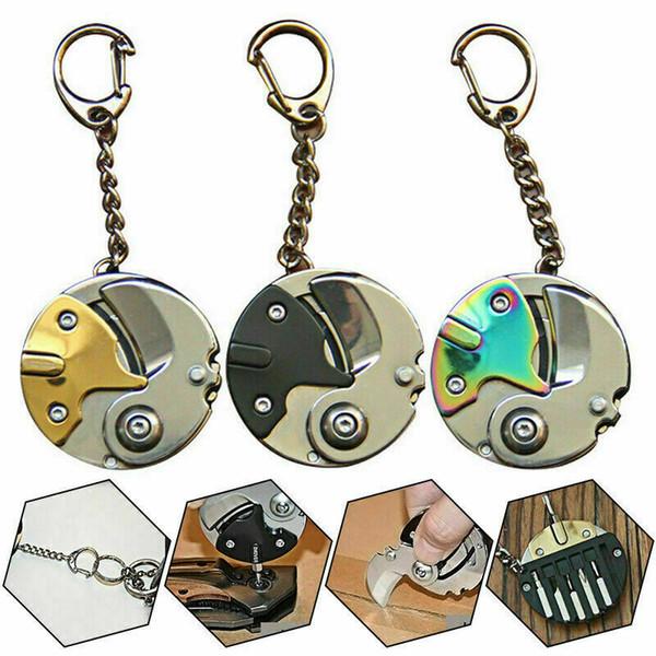 Ferramentas multi função bolso Mini Folding chave de fenda Alicate cortador Coin Keychain Dropshipping