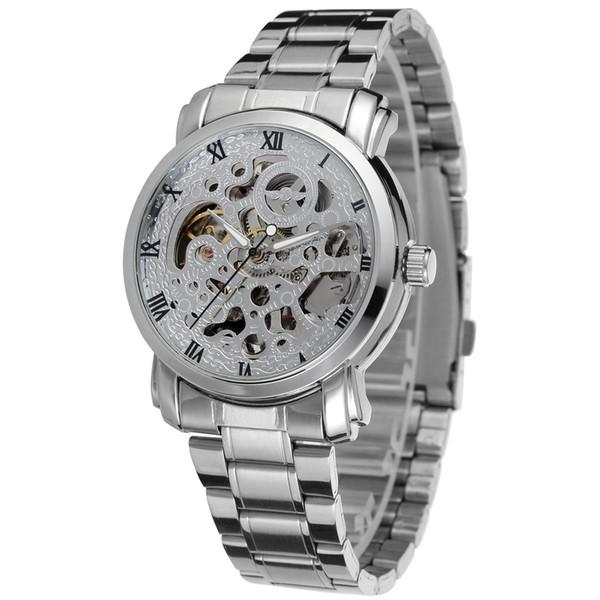 2018 nuevo reloj automático automático automático reloj deportivo automático para hombres reloj mecánico para hombres oro todo acero acero inoxidable reloj