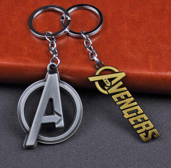 Avengers Infinity War Keyring Products The avengers alliance A Sign Keychain Pendant Gifts For Car Key Ring Holder