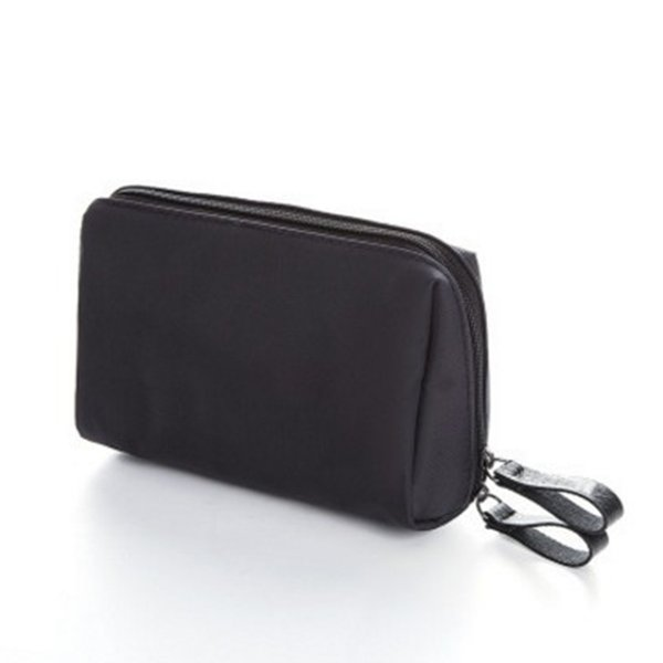 Fashion Travel Solid Color Cosmetic Bag Waterproof Zipper Cosmetic Storage Bag Portable Mini Makeup