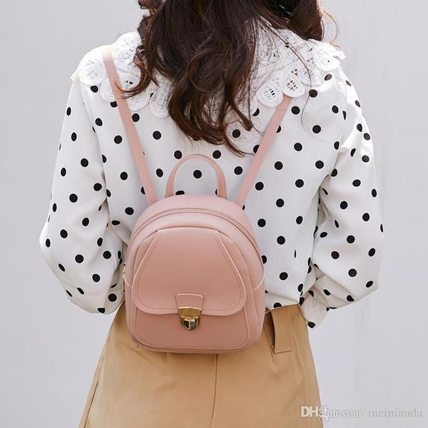 Luxury Korean Style Girls' Backpack 2019 Fashion Multi-Function Small Back pack Women Shoulder Hand bags Female Bagpack School Bag Pack