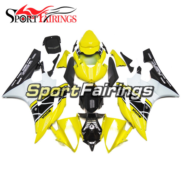 Injection Molding 50th Anniversary Yellow Fairings For Yamaha YZF-600 R6 Year 2006 2007 Complete Plastic Fairing Kit 06 07 R6 Bodywork