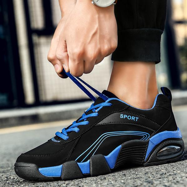 Baideng New Listing Air Mesh Спортивная обувь Man 2019 Мягкие дышащие кроссовки для мужчин Черные / Синие / Красные кроссовки Chaussure