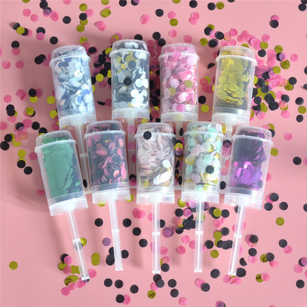 best selling Paper Pushing Confetti Wedding Party Decoration Paper Push Tube Sharking Paper Decoration DIY Push-Pop Supplies yq00680